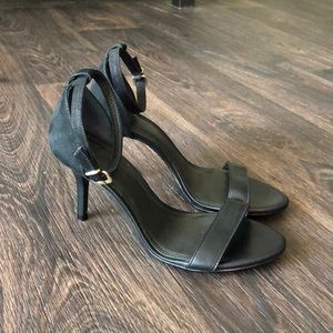 Suede & Leather Minimalist Sandals NWOT
